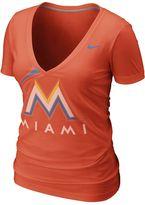 Nike miami marlins burnout tee - women