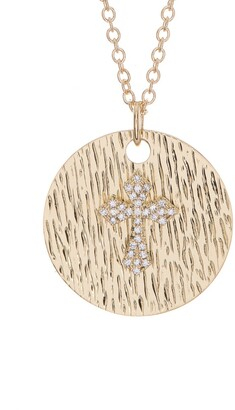 Ron Hami 14K Yellow Gold Diamond Cross Pendant Necklace - 0.08 ctw