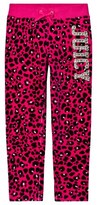 Juicy Couture Hot Pink and Black Leopard Print Track Pants
