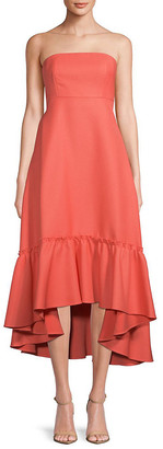 Prose & Poetry Moss Strapless Tie-Back Dress