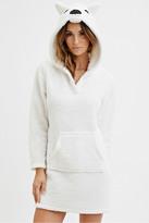 Forever 21 Plush Polar Bear Hooded Nightdress