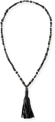 A.N.A Hipchik Leather Tassel Necklace