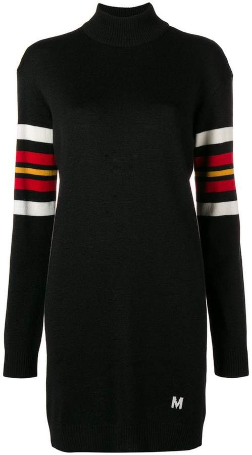 MSGM striped colour-block sweater dress