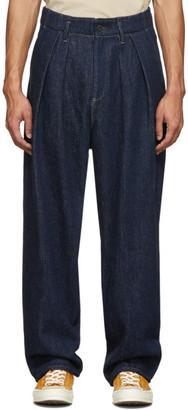Kuro Blue Two Tuck Loose Jeans