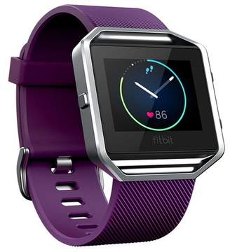 Fitbit POSH TECH Small Silicone Replacement Band with Frame for Blaze - Purple