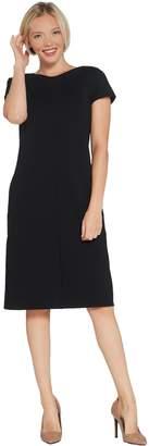 Susan Graver Ponte Knit Cap Sleeve Dress