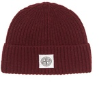 Stone Island Logo-jacquard wool-blend beanie hat
