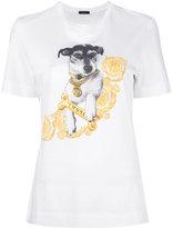 Versace printed Audrey t-shirt - women - Cotton - 36