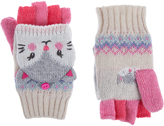 Accessorize Lined Chloe Cat Capped Mittens