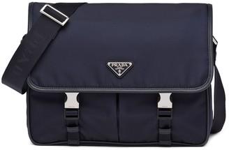 Prada Logo-Plaqe Messenger Bag