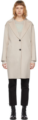 Mackage Beige Wool Inez Coat