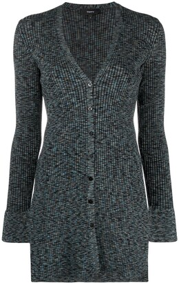 Theory ribbed-knit V-neck cardigan
