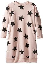 Nununu Star Print A-Line Sweatshirt Dress (Little Kids/Big Kids)