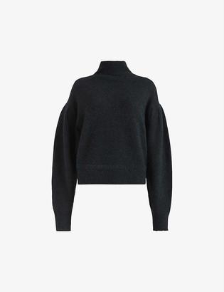 AllSaints Vika knitted puff-sleeve jumper