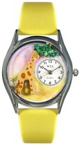 Whimsical Watches Women's S0150004 Giraffe Yellow Leather Watch