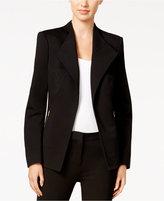 Calvin Klein Zip-Pocket Open-Front Blazer