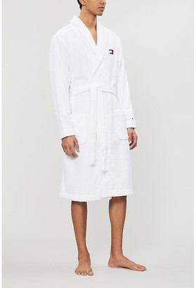 Tommy Hilfiger Logo-embroidered cotton-towelling robe