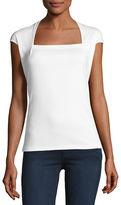 Lafayette 148 New York Giada Swiss Cotton Cap-Sleeve Top