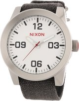 Nixon Men's Dial Gray Canvas