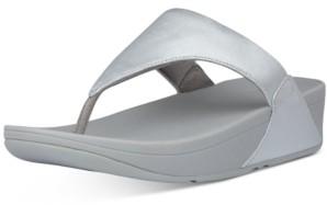 FitFlop Lulu Leather Toepost Flip-Flop Sandals Women's Shoes