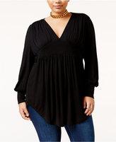 Melissa McCarthy Trendy Plus Size Shirred Top