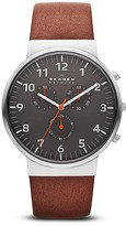 Skagen Ancher Gray Dial Chronograph Watch, 40mm