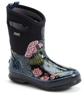 Bogs Women's 'Classic Winter Blooms' Mid High Waterproof Snow Boot With Cutout Handles