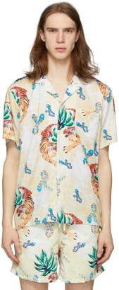 Bather Beige Hawaiian Tiger Camp Shirt