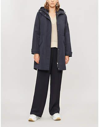 Ted Baker Drawstring-hood asymmetric-hem shell jacket