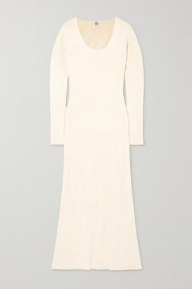 Totême Molveno Silk-blend Maxi Dress - Ivory
