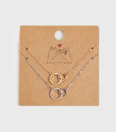 Thumbnail for your product : New Look 2 Pack Linked Circle Necklaces