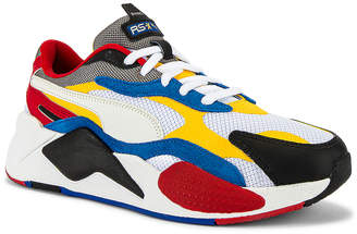 Puma Select RSX Cube RS-X3 Puzzle in Puma White & Spectra Yellow | FWRD