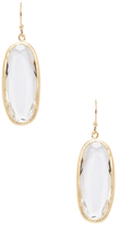 Rivka Friedman Rock Crystal Oblong Drop Earrings