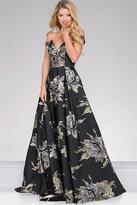 Jovani Off the Shoulder Flora Print Prom Ballgown 48361