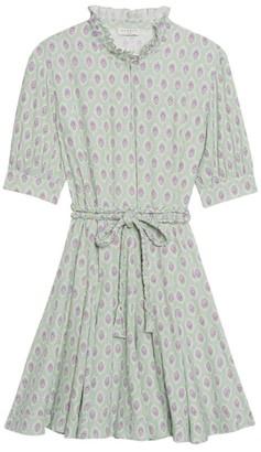 Sandro Paris Geometric Belted Mini Dress