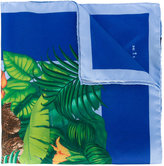 Kiton jungle print pocket square - men - Silk - One Size