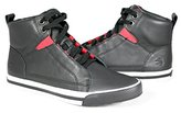Burnetie Men's Signature design leather high top sneaker