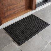 """Crate & Barrel Thirsty Dots TM Charcoal 34""""x22"""" Doormat"""