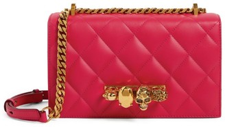 Alexander McQueen Leather Jewelled Satchel Bag