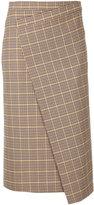 ASTRAET plaid pencil wrap skirt