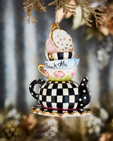 Mackenzie Childs MacKenzie-Childs Wonderland Stacking Teacups Ornament
