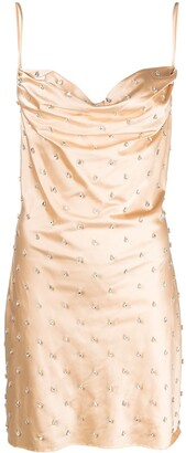 Giuseppe di Morabito Crystal-Embellished Cowl-Neck Dress