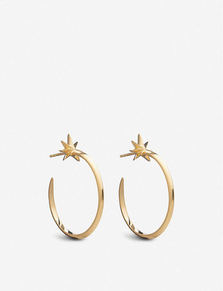 Rachel Jackson Shooting Star 22ct gold-plated silver large hoop earrings