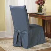 Sure Fit Cotton Duck Full Dining Room Chair Cover, Bluestone