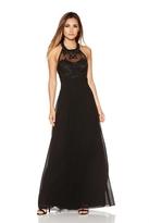 Quiz Black Chiffon Embellished High Neck Maxi Dress