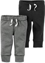 Carter's Baby Boy 2-pk. Solid & Striped Jogger Pants