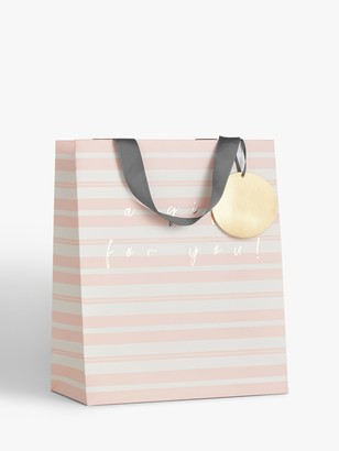 Belly Button Designs Pink Stripe Gift Bag