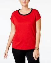 MICHAEL Michael Kors Size Velvet-Trim T-Shirt