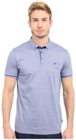 Ted Baker Trynor Linen Collar Stripe Polo