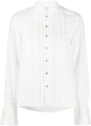 Renli Su Pleated Button-Down Shirt